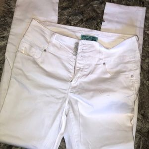 Wax jeans in white